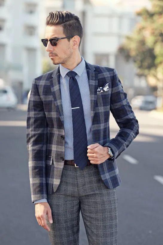 你知道格纹元素的衣服该怎么搭配嘛?-Blackwings官网,男士线上个人形象改造专家,形象改造,形象设计,形象管理,形象顾问,穿搭指导,素人爆改,男生发型,男生穿搭,挽回女友